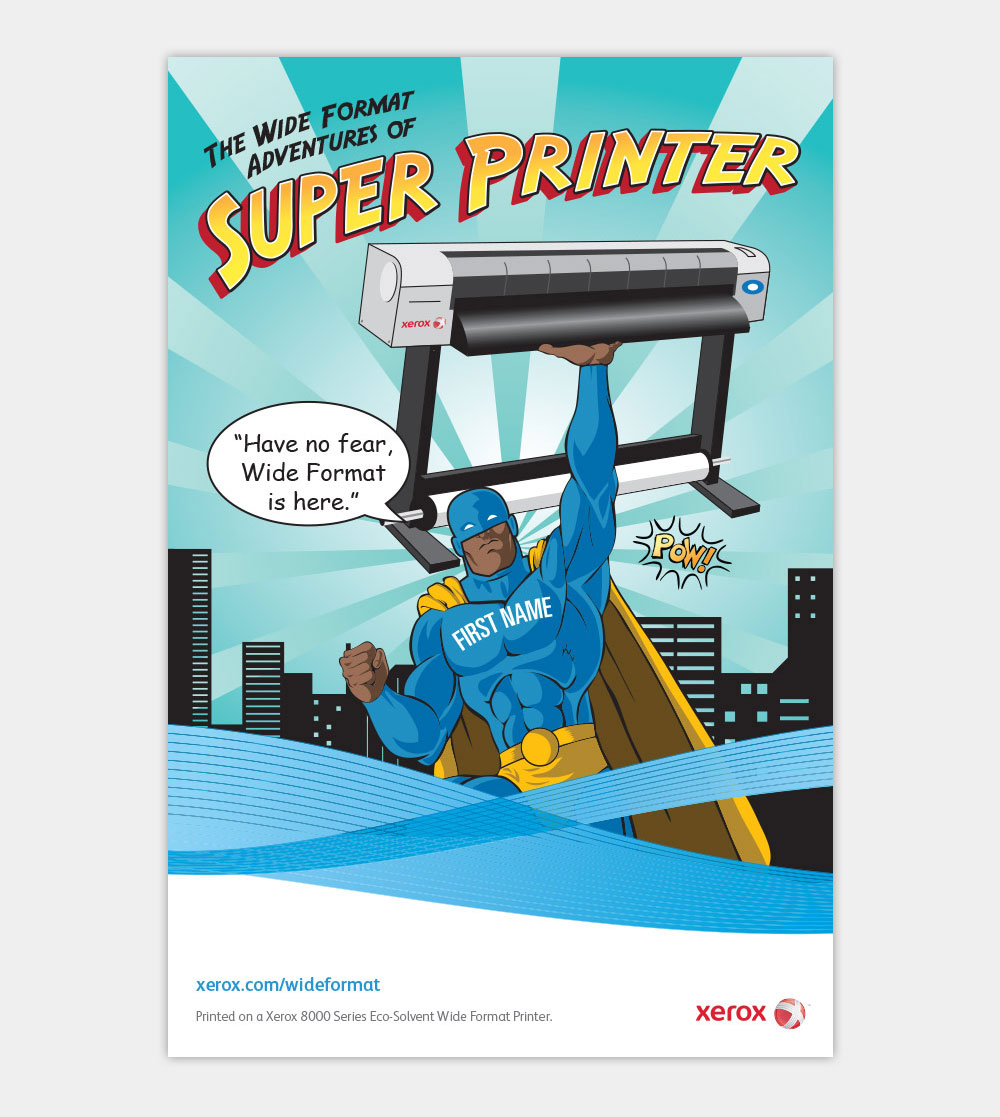 Illustration Xerox Superhero